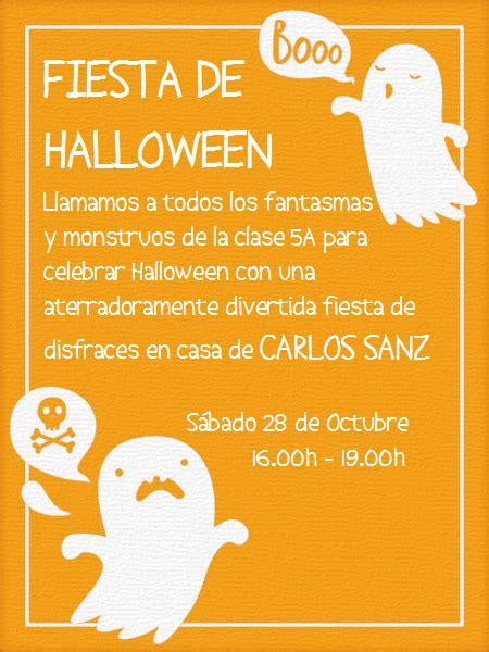imagenes de halloween invitaciones mini fantasma