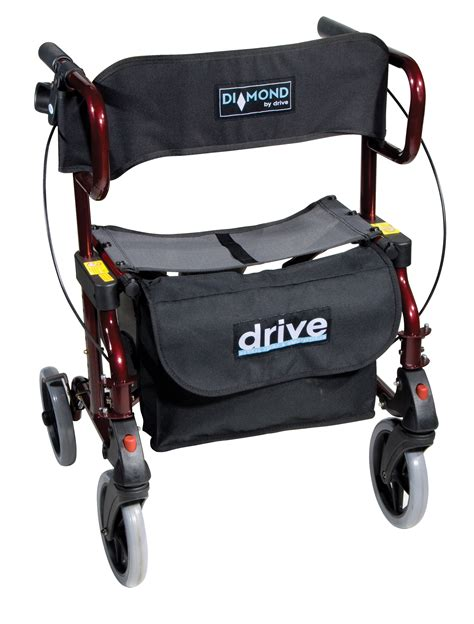 cheap deluxe rollator transport chair 2 in 1 uk