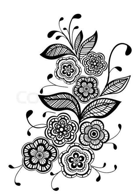 flower pattern vector black and white beautiful black and white floral pattern design element
