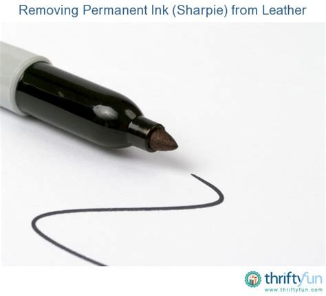 How To Get Ink Leather by Removing Permanent Ink Sharpie From Leather Thriftyfun