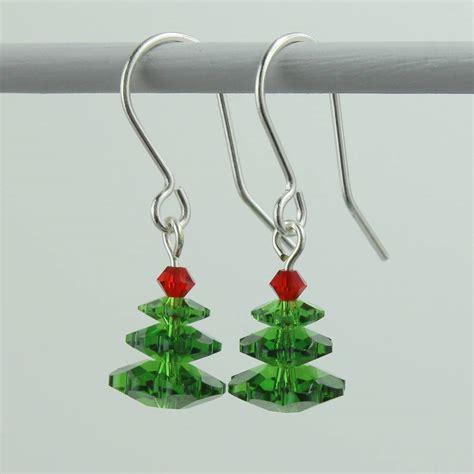swarovski crystal christmas tree earrings by joy by