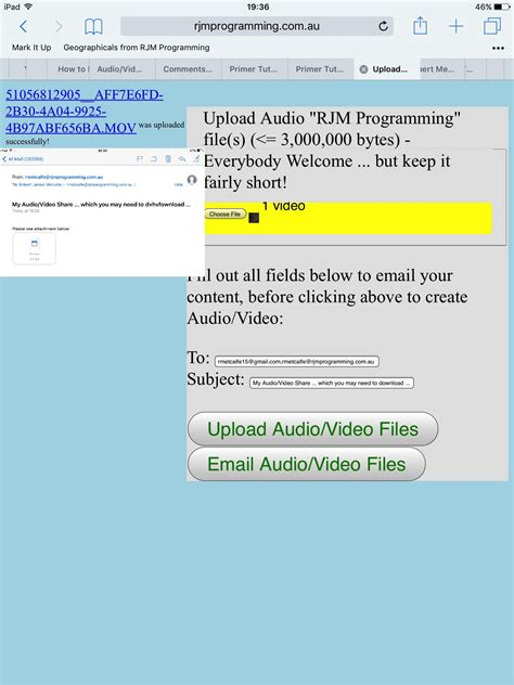 html input pattern for email audio video html5 form input capture via php email