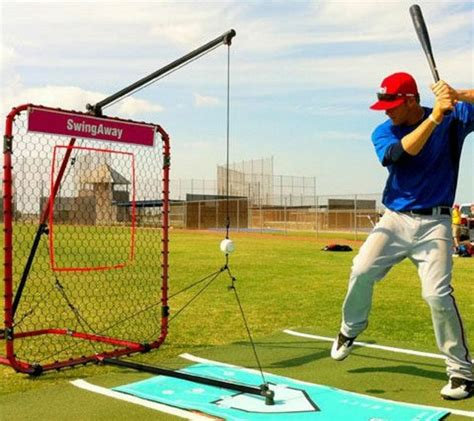 swing away baseball swing away baseball hitting system trainer aid tee little