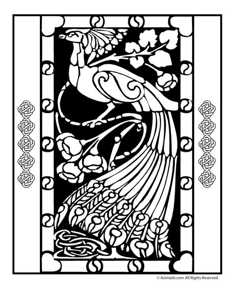 irish coloring book pages peacock coloring page