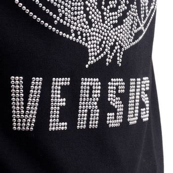 versus versace border pattern t shirt a black party wear studded t shirt by versace clothing