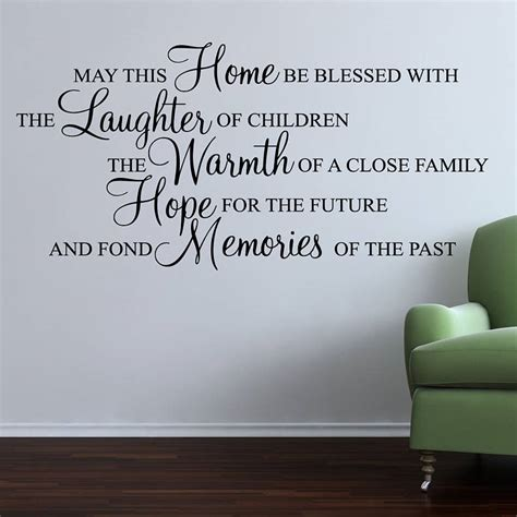 quotes on wall stickers may this home be blessed wall stickers quote by parkins interiors notonthehighstreet