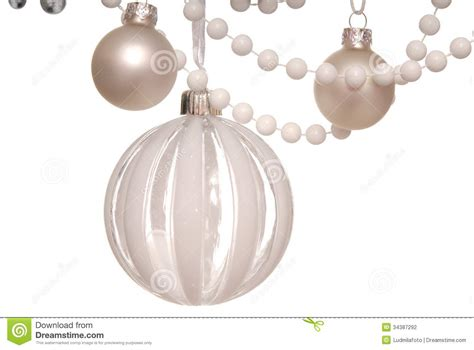 white christmas tree balls stock photography image 34387292