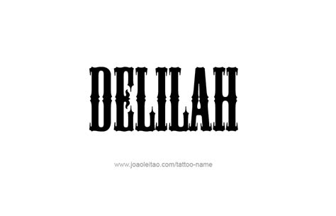 delilah tattoo design name 10 png