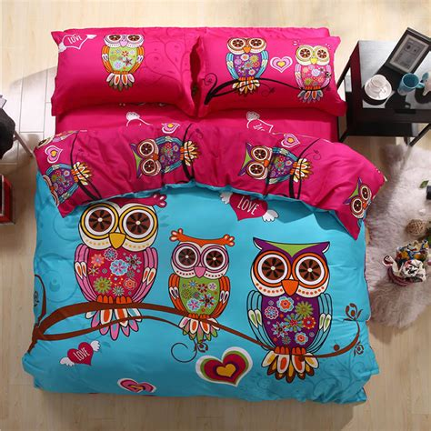 owl bedding set owl king size bed set pillowcases