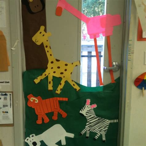 zoo animals door decoration teaching class organization
