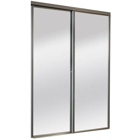Beveled Mirror Sliding Closet Door Beveled Mirror Closet Doors Impact Plus 60 In X 80 In Beveled Edge Mirror Solid Plycor