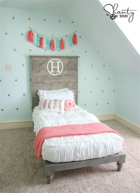 diy twin platform bed diy twin platform bed and headboard shanty 2 chic