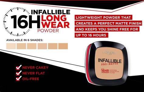 L Oreal Infallible Pro Matte Powder l or 233 al 174 infallible pro matte powder 200