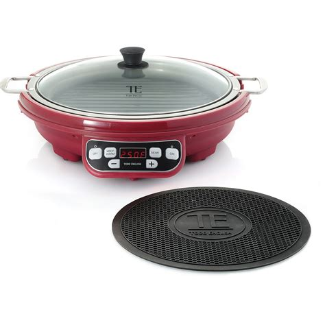 induction stove grill todd 1800w induction cooking station w nonstick grill merlot new ebay