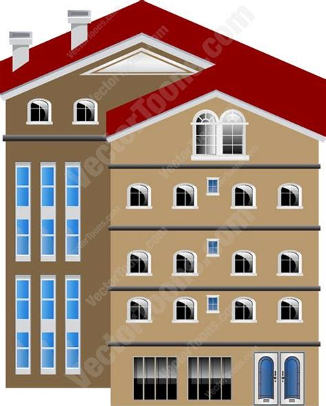 Level Office by Brown Five Storey Split Level Office Condo Building With