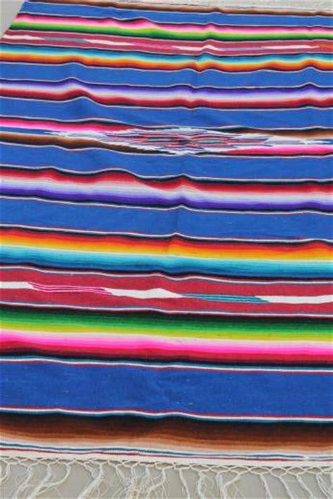 Serape Rug by Vintage Saltillo Mexican Indian Blanket Serape Rug W