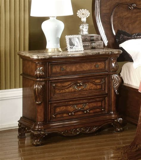 Bedroom Furniture Nottingham Nottingham 3 Drawer Nightstand With Marble Top Usa Warehouse Furniture