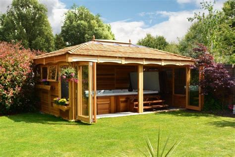 spa gazebo tub swim spa gazebos the hideout house company