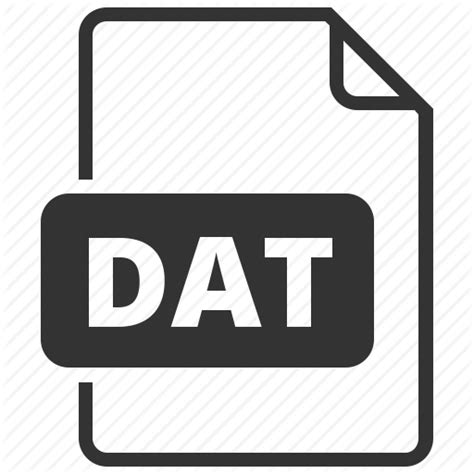 format file dat dat database file format icon icon search engine