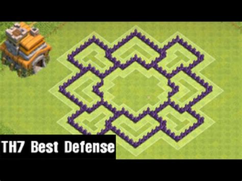 coc edit layout th7 clash of clans town hall 7 defense coc th7 best trophy