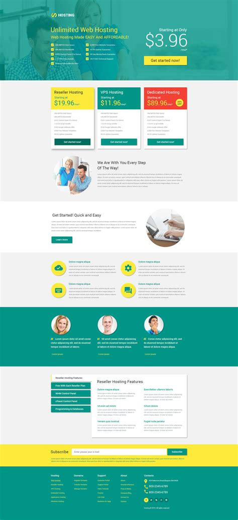 landing page templates hosting responsive landing page template 53399