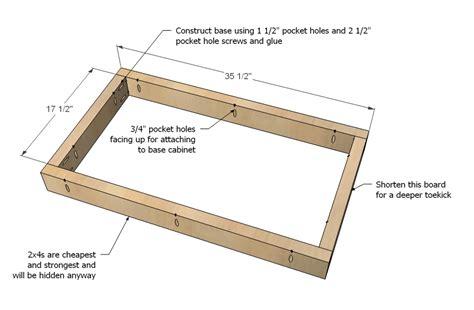 Kitchen Sink Base Cabinet Plans » Home Design 2017