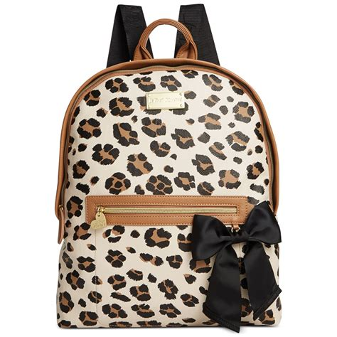 Betsey Johnson Quilted Backpack by Betsey Johnson Quilted Backpack In Animal Leopard Lyst