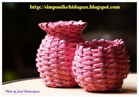Tas Kendi Mini kerajinan tangan vas bunga mini