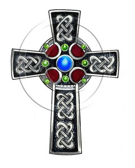 celtic cross with roses tattoo designs cross images designs