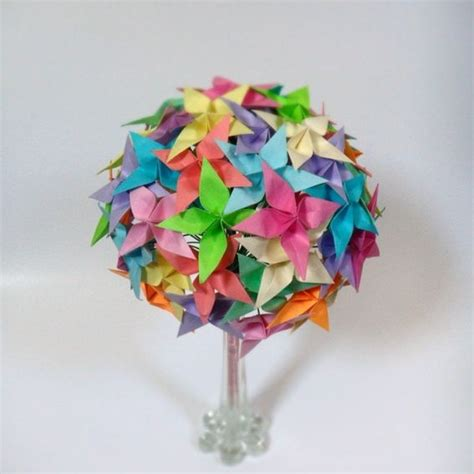 Origami Paper Sale - handmade sale rainbow confetti origami paper flower