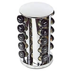 Rotary Spice Rack Stainless Steel 20 Jar Rotating Spice Rack