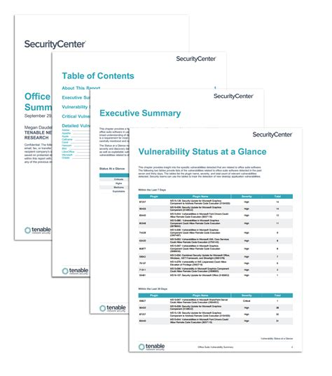 office suite templates office suite vulnerability summary sc report template