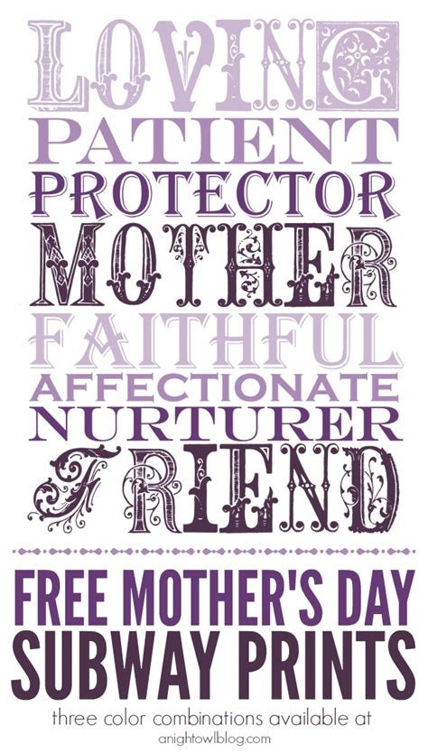 mothers day subway art printables free mother s day printables prints free and subway art