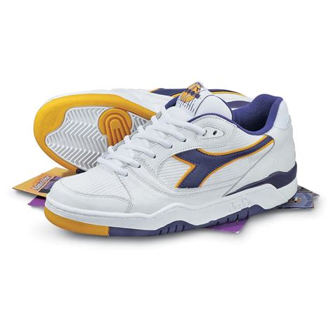 gold athletic shoes s diadora 174 duratech 650 athletic shoes white purple