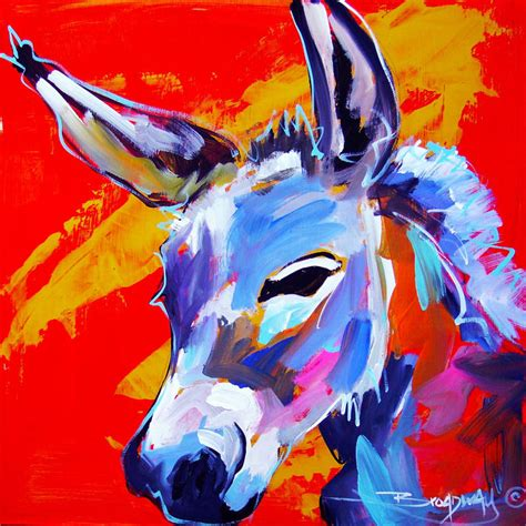 Etsy Home Decor a cute donkey painting 12x12