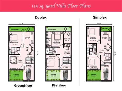 120 sq yard home design house plan 120 yards duplex house plans in 120 sq yards