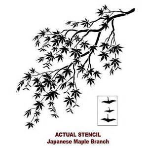 Wall Stickers Cherry Blossom japanese maple branch stencil illustration design