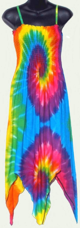 sarongsetc rainbow spiral tie dye sun dress
