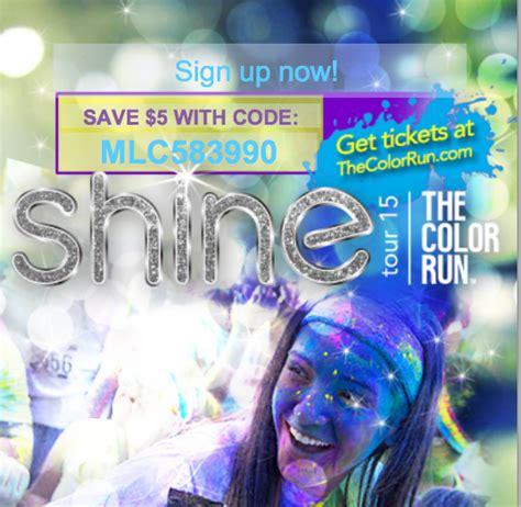 the color run coupon code thanks mail carrier weshine at the happiest 5k on the