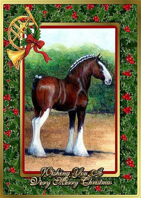 free printable christmas cards with horses clydesdale draft horse christmas card by olde time mercantile