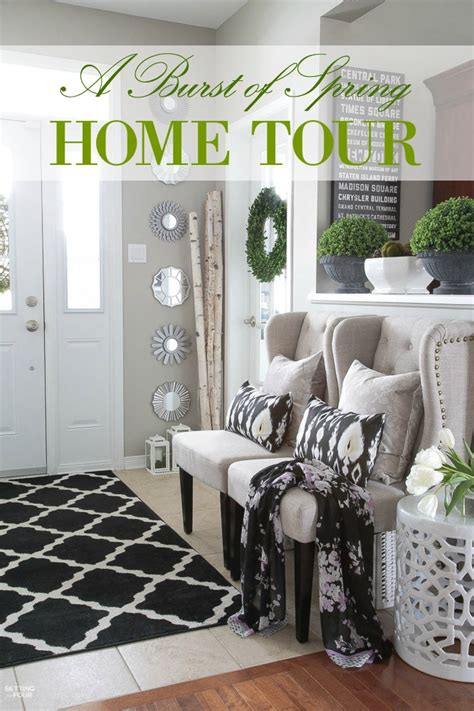 spring home decorations spring home tours setting for four
