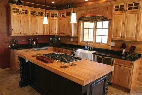 Wood Kitchen Ideas by Hickory Kitchen Cabinets Furniture