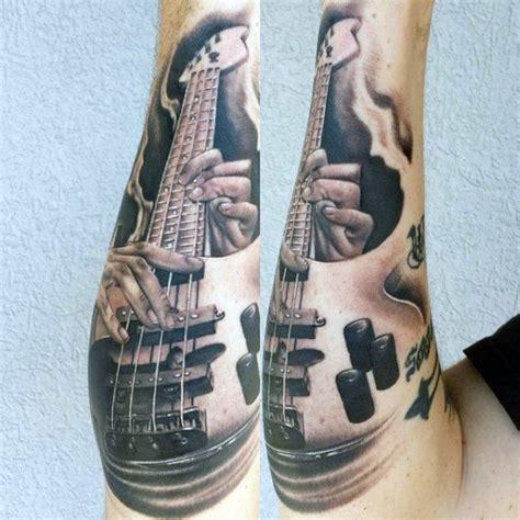 tattoo gun guitar string 65 guitar tattoos for men acoustic and electric designs