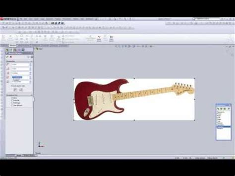 solidworks tutorial how to make guitar solidworks tutorials using splines to create a guitar