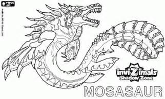 dibujos colorear invizimals mosasaur dibujos recortar colorear