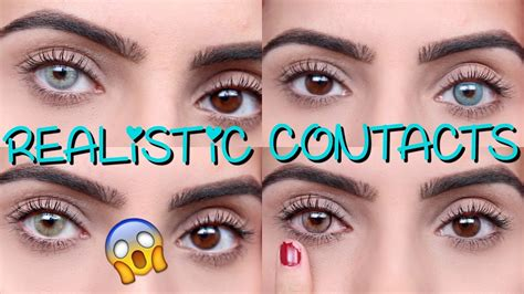 best color contacts for colored contacts for before and after www
