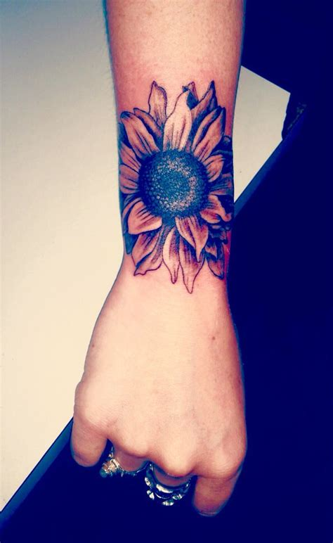 sunflower wrist tattoo 25 best flower wrist tattoos ideas on