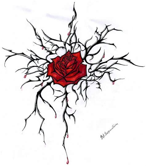 rose and thorn tattoo roses and thorns designs i
