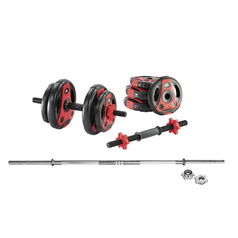 Barbel Set adidas essential 50kg barbell and dumbbell weight set
