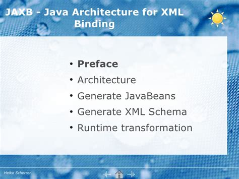 Java Architect Description by Jsr 222 Java Architecture For Xml Binding